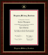 Virginia Military Institute Diploma Frame - Gold Embossed Diploma Frame in Murano