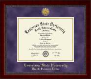 Louisiana State University Health Sciences Center Diploma Frame - Gold Engraved Medallion Diploma Frame in Sutton