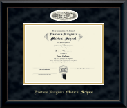 Eastern Virginia Medical School Diploma Frame - Campus Cameo Diploma Frame in Onyx Gold