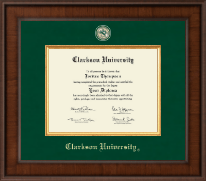 Clarkson University Diploma Frame - Presidential Masterpiece Diploma Frame in Madison