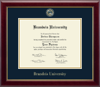 Brandeis University Diploma Frame - Masterpiece Medallion Diploma Frame in Gallery