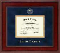 Smith College Diploma Frame - Presidential Masterpiece Diploma Frame in Jefferson