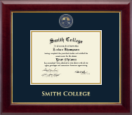 Smith College Diploma Frame - Masterpiece Medallion Diploma Frame in Gallery