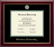 Clarkson University Diploma Frame - Masterpiece Medallion Diploma Frame in Gallery