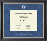 Saint Mary's College Diploma Frame - Regal Edition Diploma Frame in Noir