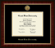 Grand View University Diploma Frame - Gold Engraved Medallion Diploma Frame in Murano
