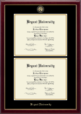 Bryant University Diploma Frame - Masterpiece Medallion Double Diploma Frame in Gallery