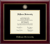 DePauw University Diploma Frame - Masterpiece Medallion Diploma Frame in Gallery