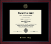 Bates College Diploma Frame - Gold Embossed Achievement Edition Diploma Frame in Academy