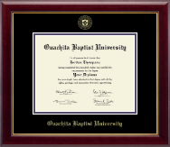 Ouachita Baptist University Diploma Frame - Gold Embossed Diploma Frame in Gallery