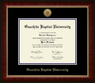 Ouachita Baptist University Diploma Frame - Gold Engraved Medallion Diploma Frame in Murano