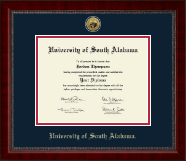 University of South Alabama Diploma Frame - Gold Engraved Medallion Diploma Frame in Sutton