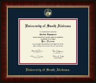 University of South Alabama Diploma Frame - Gold Embossed Diploma Frame in Murano