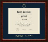 Emory Oxford College Diploma Frame - Gold Embossed Diploma Frame in Murano