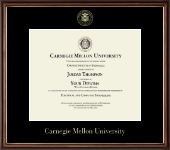 Carnegie Mellon University Diploma Frame - Gold Embossed Diploma Frame in Williamsburg