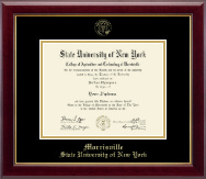 SUNY Morrisville Diploma Frame - Gold Embossed Diploma Frame in Gallery