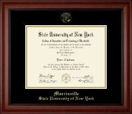 SUNY Morrisville Diploma Frame - Gold Embossed Diploma Frame in Cambridge