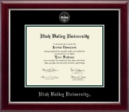 Utah Valley University Diploma Frame - Silver Embossed Diploma Frame in Gallery Silver