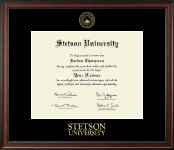 Stetson University Diploma Frame - Gold Embossed Diploma Frame in Studio