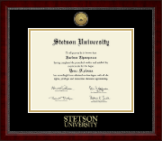 Stetson University Diploma Frame - Gold Engraved Medallion Diploma Frame in Sutton