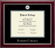 Eckerd College Diploma Frame - Masterpiece Medallion Diploma Frame in Gallery Silver