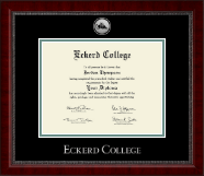 Eckerd College Diploma Frame - Silver Engraved Medallion Diploma Frame in Sutton