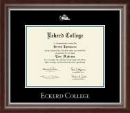 Eckerd College Diploma Frame - Silver Embossed Diploma Frame in Devonshire