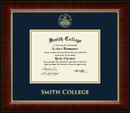 Smith College Diploma Frame - Gold Embossed Diploma Frame in Murano