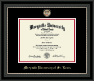 Maryville University of St. Louis Diploma Frame - Masterpiece Medallion Diploma Frame in Noir