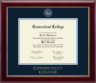 Connecticut College Diploma Frame - Masterpiece Medallion Diploma Frame in Gallery