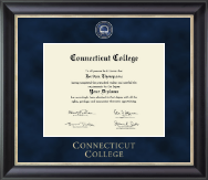 Connecticut College Diploma Frame - Regal Edition Diploma Frame in Noir