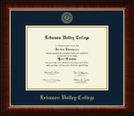 Lebanon Valley College Diploma Frame - Gold Embossed Diploma Frame in Murano