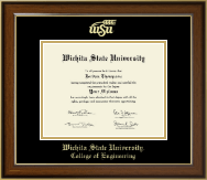 Wichita State University Diploma Frame - Gold Embossed Diploma Frame in Westwood