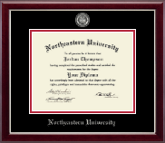 Northeastern University Diploma Frame - Masterpiece Medallion Diploma Frame in Gallery Silver