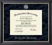Northeastern University Diploma Frame - Regal Edition Diploma Frame in Noir
