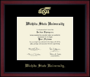 Wichita State University Diploma Frame - Gold Embossed Achievement Edition Diploma Frame in Academy