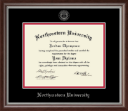 Northeastern University Diploma Frame - Silver Embossed Diploma Frame in Devonshire