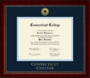 Connecticut College Diploma Frame - Gold Engraved Medallion Diploma Frame in Sutton
