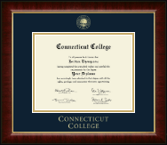 Connecticut College Diploma Frame - Gold Embossed Diploma Frame in Murano
