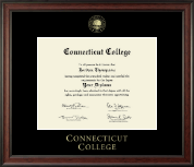 Connecticut College Diploma Frame - Gold Embossed Diploma Frame in Studio