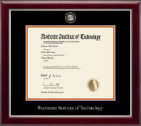 Rochester Institute of Technology Diploma Frame - Masterpiece Medallion Diploma Frame in Gallery Silver