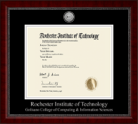 Rochester Institute of Technology Diploma Frame - Silver Engraved Medallion Diploma Frame in Sutton