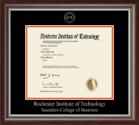 Rochester Institute of Technology Diploma Frame - Silver Embossed Diploma Frame in Devonshire