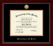 University of the Pacific Diploma Frame - Gold Engraved Medallion Diploma Frame in Sutton
