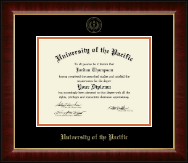 University of the Pacific Diploma Frame - Gold Embossed Diploma Frame in Murano