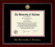 The University of Alabama Tuscaloosa Diploma Frame - Gold Engraved Medallion Diploma Frame in Sutton