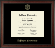 DePauw University Diploma Frame - Gold Embossed Diploma Frame in Studio