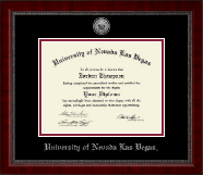 University of Nevada Las Vegas Diploma Frame - Silver Engraved Medallion Diploma Frame in Sutton