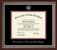 University of Nevada Las Vegas Diploma Frame - Silver Embossed Diploma Frame in Devonshire