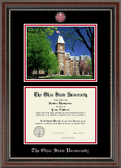 The Ohio State University Diploma Frame - Campus Scene Masterpiece Diploma Frame in Chateau